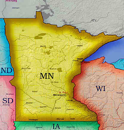 Wolf Wars Part Wolves Under The Gun In Montana And The Rest Of - Map of minnesota and wisconsin