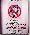 Anti-wolf sign. B. Weide Photo