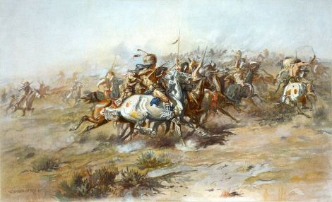 Charles_Marion_Russell_-_The_Custer_Fight_(1903)