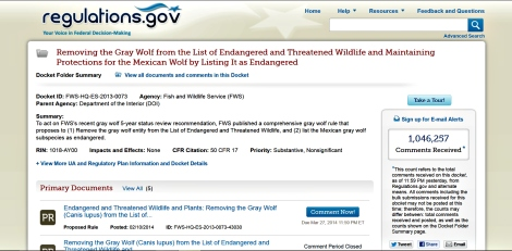 Comments on national wolf delisting 1 jpg