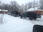 Hound hunting trucks on the first morning of the Wisconsin hound hunting season. WolfPatrol